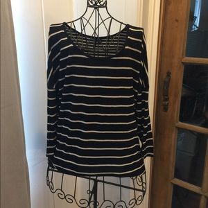 Black and Cream Causal Top